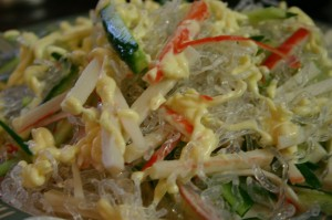 Seaweed Jelly with Crabmeat Salad 韓式海藻凍蟹肉沙拉