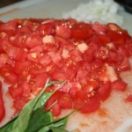 tomato and onion diced