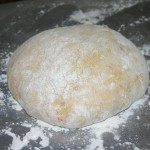 dough into round shape