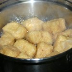 boil the fried tofu