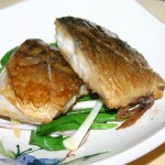 Braised mackerel