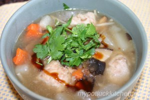 養生肉羹湯 Healthy Pork Nuggets Soup