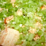 sprinkle celery, sesame oil