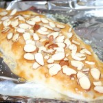 almond flakes on top