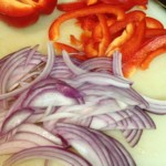 onion, red pepper