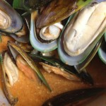 cook mussels together with the sauce